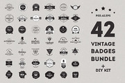 Vintage Badges Bundle - 50%-Graphicriver中文最全的素材分享平台
