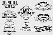 Vintage Logotype Labels-Graphicriver中文最全的素材分享平台