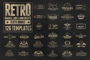 126 Retro Badges, Labels & -Graphicriver中文最全的素材分享平台