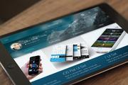 iOS Tablet Flat Pad UI Set -Graphicriver中文最全的素材分享平台
