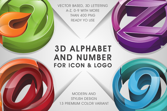 All in 3D lettering 70% off - Objects - 2