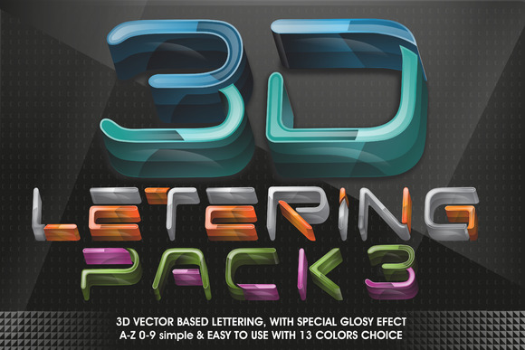 All in 3D lettering 70% off - Objects - 3