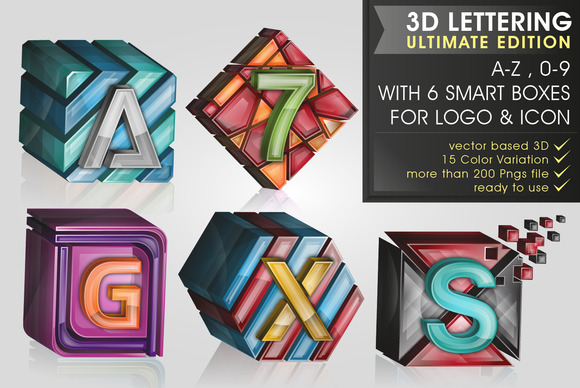 All in 3D lettering 70% off - Objects - 5