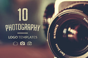 10 Photography Logo Templat-Graphicriver中文最全的素材分享平台