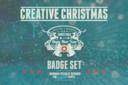 Creative Christmas Badges-Graphicriver中文最全的素材分享平台