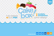 Gift Box Packaging Cake Tem-Graphicriver中文最全的素材分享平台
