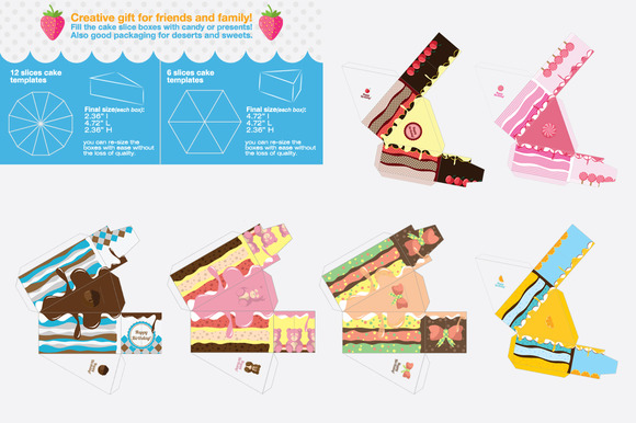 Gift Box Packaging Cake Template - Templates - 2