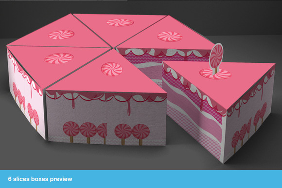 Gift Box Packaging Cake Template - Templates - 4