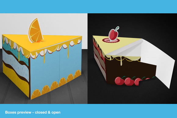 Gift Box Packaging Cake Template - Templates - 5