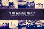 Vintage Labels & Badges Vol-Graphicriver中文最全的素材分享平台