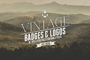 Vintage Badges & Logos Vol.-Graphicriver中文最全的素材分享平台