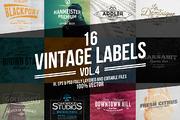 Vintage Labels & Badges Vol-Graphicriver中文最全的素材分享平台