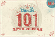 101 Vintage (Mega Bundle 50-Graphicriver中文最全的素材分享平台